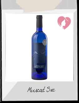 Vin Blanc - Muscat sec IGP Pays d'Oc blanc 2015 - Les Coteaux de Thongue et Peyne à Abeilhan (Hérault)