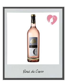 Rosé de Caux,IGP PAYS HERAULT MC PAYS DE CAUX,rosé, 2018